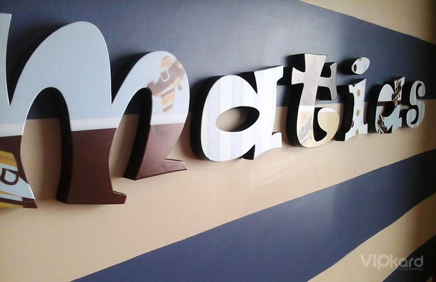 Letras decorativas para interiores - MATIAS