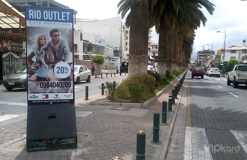 Paleta publicitaria - RIO OUTLET