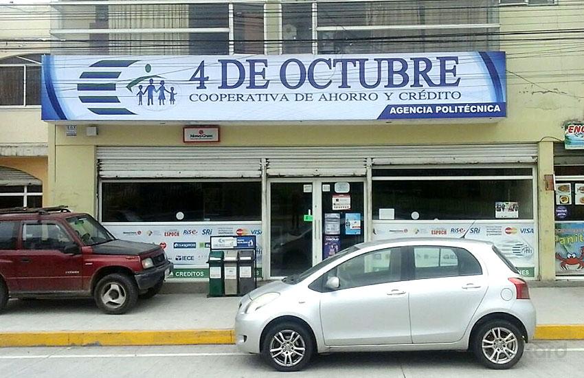Rótulo publicitario - COOP. 4 DE OCTUBRE / RIOBAMBA