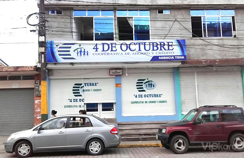 Rótulo publicitario - COOP. 4 DE OCTUBRE / TENA