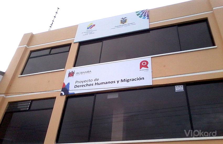 Rótulo publicitario Casa del Migrante - GADM RIOBAMBA