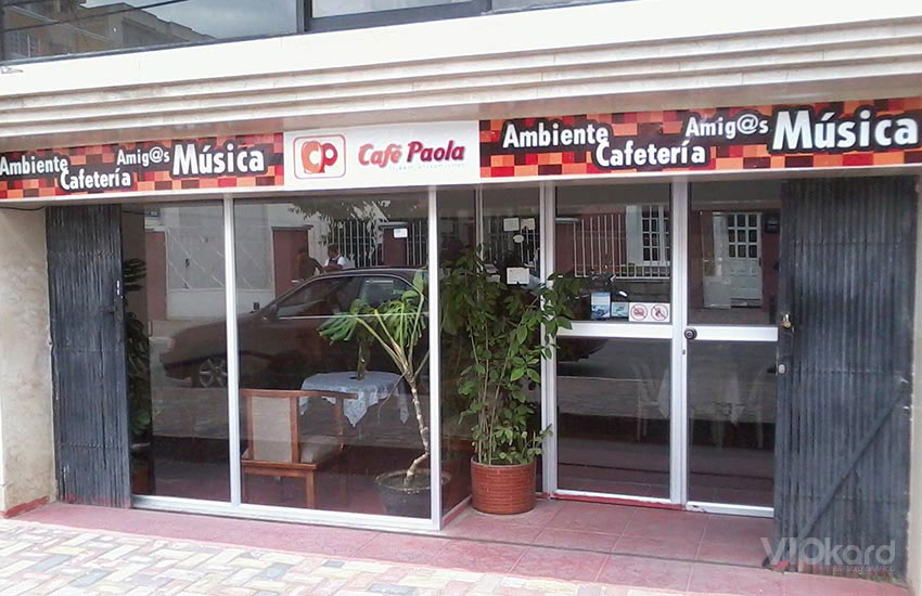Rótulo publicitario 2 - CAFÉ PAOLA