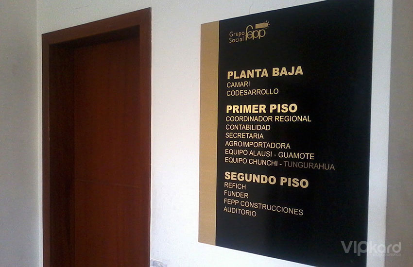 Señalética institucional 1 - FEPP
