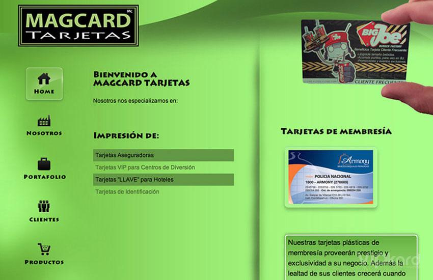 Página web - MAGCARD TARJETAS