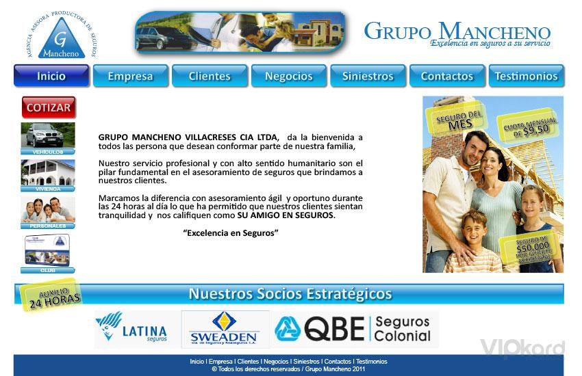 Página web - GRUPO MANCHENO